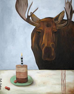 Chocolate Moose Original by Leah Saulnier The Painting Maniac
