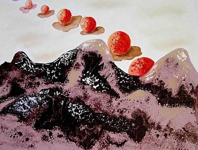 Chocolate Mountains Art Print by Evguenia Men