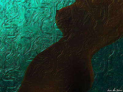 Digital Art - Chocolate Nude by Iowan Stone-Flowers