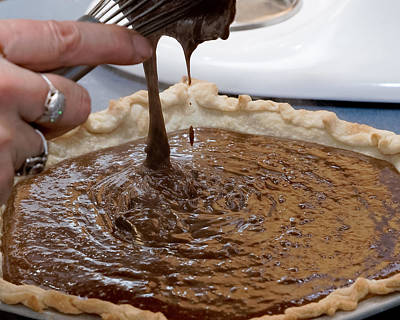 Culinary Photograph - Chocolate Pie Pour by Erich Grant