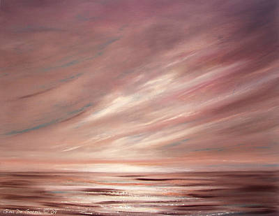 Painting - Chocolate Shake Sunset by Gina De Gorna