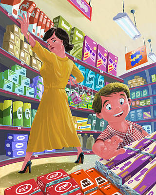 Candy Digital Art - Chocolate Shopping by Martin Davey