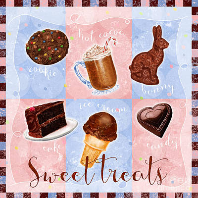 Chocolate Sweet Treats Art Print by Shari Warren