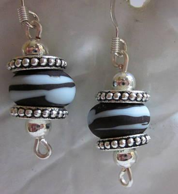 Silver Findings Jewelry - Chocolate Swirl Earrings by Janet  Telander