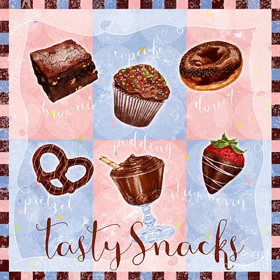 Chocolate Tasty Snacks Art Print by Shari Warren