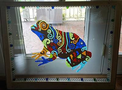 Glass Art - Chocolate Toad Logo by Liz Lowder