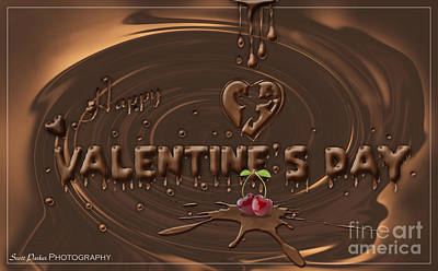 Digital Art - Chocolate Valentines Day Card by Scott Parker