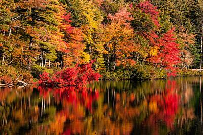 Tamworth Wall Art - Photograph - Chocorua Pond In Fall Foliage by Jeff Folger