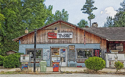 Choctaw Bluff Country Store Art Print by Ericamaxine Price