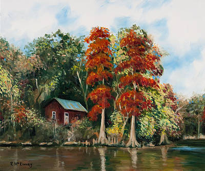 Choctawhatchee River Camp Art Print by Rick McKinney