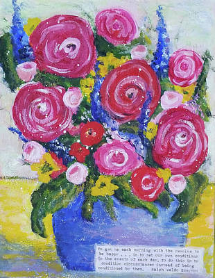 Mixed Media - Choice Bouquet by Jenny Mead