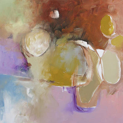 Abstract Expressionist Painting - Choices by Linda Monfort