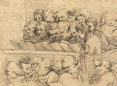 Drawing - Choir And Orchestra  by John Hamilton Mortimer