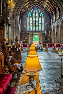 Medieval Entrance Photograph - Choir Lamps by Adrian Evans