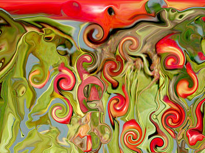 Fruit Tree Art Digital Art - Chokecherry Abstract  by Michelle  BarlondSmith