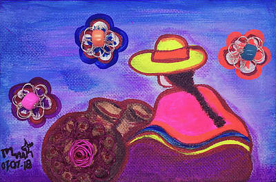 Mixed Media - Cholita1 by Marita Valdizan