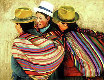 Painting - Cholitas by Ekaterina Stoyanova
