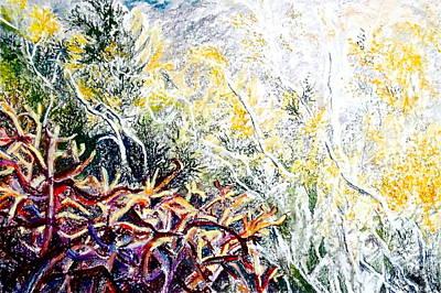 Pointillist Photograph - Cholla Sunrise by Bonnie See