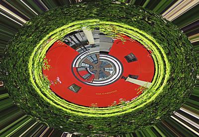 Choo Choo Caboose In The Round Art Print