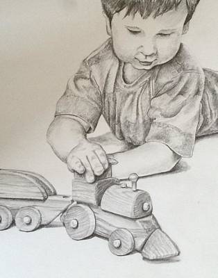 Drawing - Choo Choo by Lisa DuBois