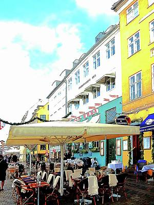 Photograph - Choose A Place To Eat Nyhavn Harbour Copenhagen by Dorothy Berry-Lound