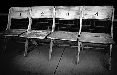 Photograph - Choose A Seat Black And White Photography by Ann Powell