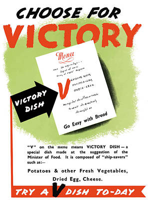 American Food Painting - Choose For Victory -- Ww2 by War Is Hell Store