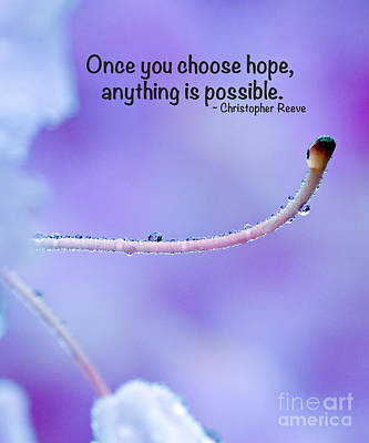 Photograph - Choose Hope by Kerri Farley