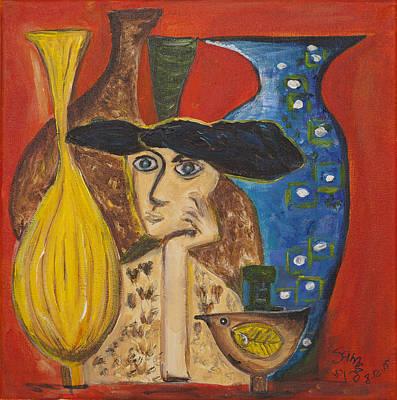 Painting - Choosing A Vase by Sierra Logan