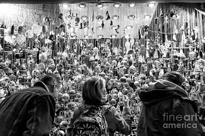 Photograph - Choosing Christmas Ornaments In Munich by John Rizzuto