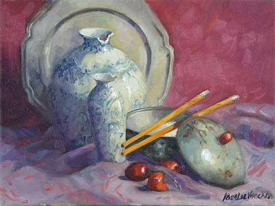 From The Kitchen - Chop Stix and Cherries by Rosalie Vaccaro