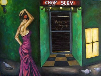 Purple Dress Painting - Chop Suey by Leah Saulnier The Painting Maniac