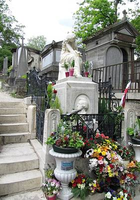 Chopin Grave Paris Art Print