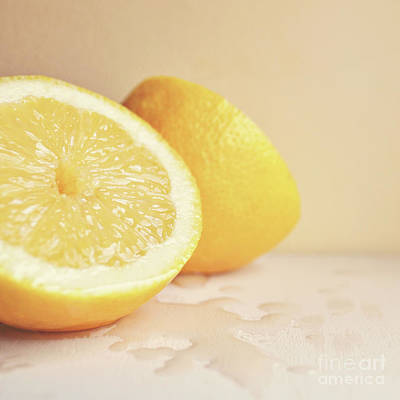Chopped Lemon Art Print by Lyn Randle