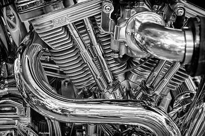 Photograph - Chopper Engine by Fran Gallogly