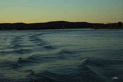 Photograph - Choppy Water Ripples In River At Twilight by Mike M Burke