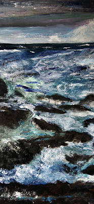 Painting - Choppy Waters 3 by Michael Helfen