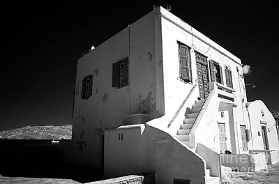 Photograph - Chora House Infrared by John Rizzuto