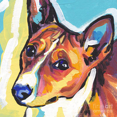 Colorful Dog Painting - Chortle Baby by Lea S