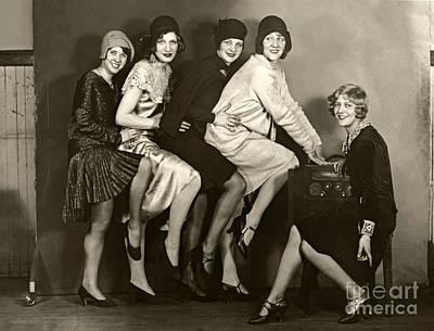 Jolly Old Saint Nick - Chorus Girls 1920s by Sad Hill - Bizarre Los Angeles Archive