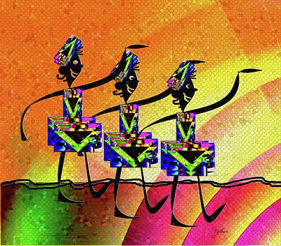 Digital Art - Chorus Line Mosaic by Iris Gelbart