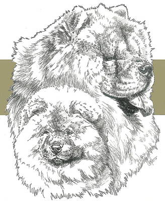 Mixed Media - Chow And Pup by Barbara Keith