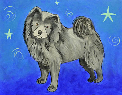 Painting - Chow Chow by Kenny Francis