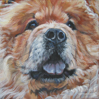 Chow Chow Painting - Chow Chow Portrait by Lee Ann Shepard
