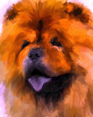 Painting - Chow Portrait by Jai Johnson