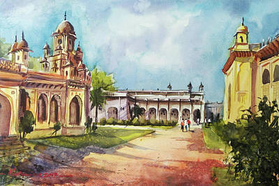 Painting - Chowmala Palace by Mrutyunjaya Dash
