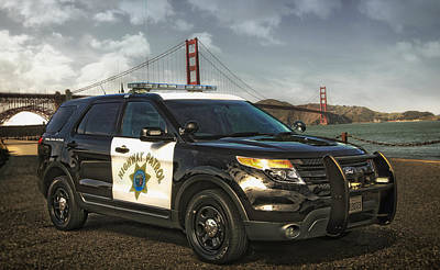 Chp Police Interceptor Utility Vehicle Art Print by Mountain Dreams