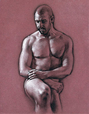 Male Nude Drawing Drawing - Chris 2 by Chris  Lopez
