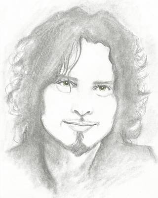 Musicians Drawings - Chris by Amber Stanford