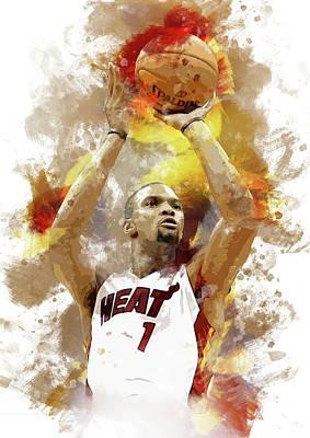 Chris Bosh Miami Heat Art Print by Afrio Adistira